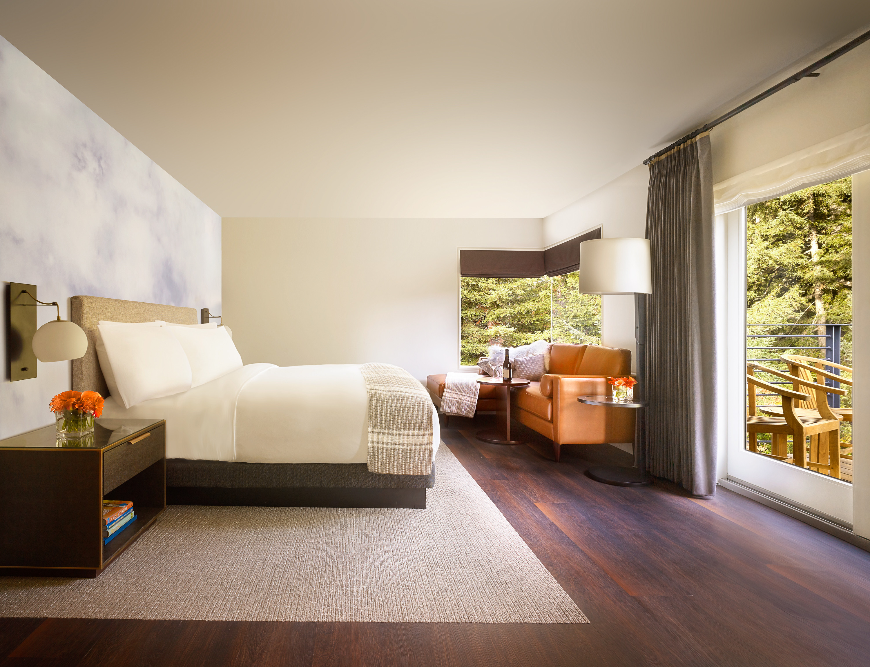 Guestroom at Canyon Ranch Wellness Retreat in Woodside