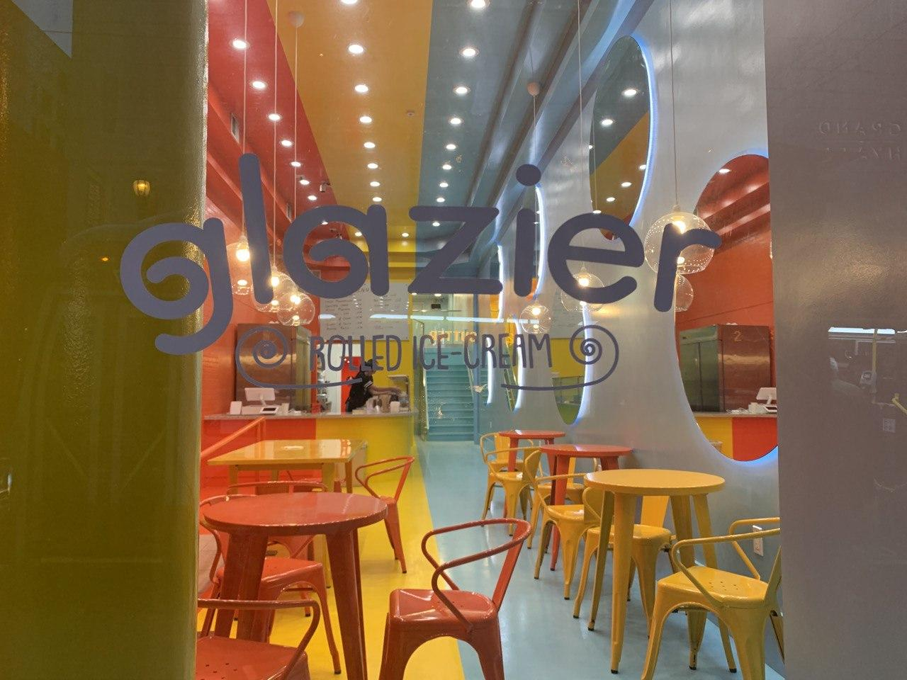 View of Glazier Rolled Ice Cream Shop in San Francisco